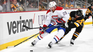 2 billets Gris Canadiens Montreal 2x Penguins Pittsburgh 2 mars