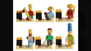 NEW!! All 6 LEGO MEN - The Simpsons Cartoon BART SIMPSON