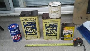 Lot of 5 Old Can's 4 Oil & 1 Tobacco Can