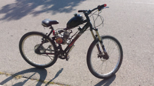 "Motorized bicycle with fox float 32"" shocks"
