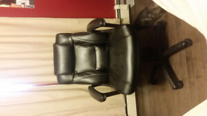 All leather computer chair