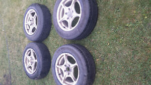 4 mags and tires 195/65/R15 Edmonton Edmonton Area image 1