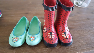 Rainboots and sandals