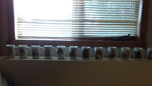 Norman Rockwell Cups - Set of 12