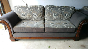 The Brick couch and sofa chair