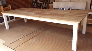 1m to 3m pallet wood topped dining tables made to order