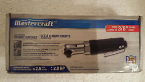 MASTERCRAFT AIR-POWERD STUBBY AIR RATCHET 3/8'' SQUARE DRIVE NEW