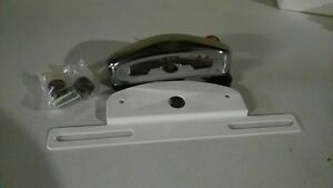 Airstream license plate holder and lamp