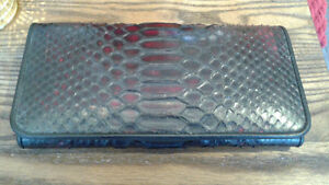 Phyton leather wallet, new made in Thailand