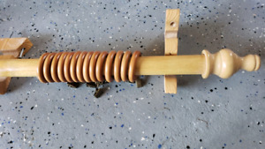 Curtain rod -solid wood