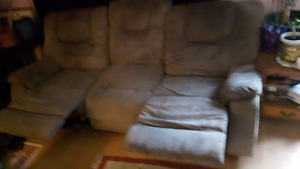 FREE Recliner couch with mechanical foot rest