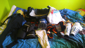 Boys hockey gear $125 obo for lot or will seperate