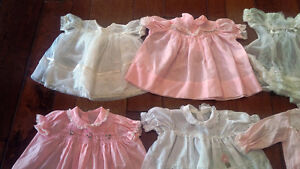 Nine Vintage Baby/Doll Dresses, Outfits, Most With Embroidery Kitchener / Waterloo Kitchener Area image 2