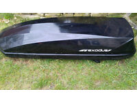 Exodus 360ltr Black Gloss Roof Box