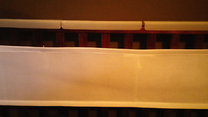 Baby crib safety bumpers and teething protector