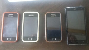 3 Samsung Galaxy and 1Acer z3