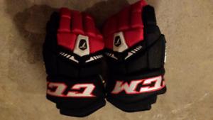 "Brand new ccm tacks 6052 gloves - size 12""  40$"