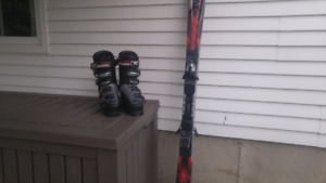 Rossignol ski boots and K2 amp skis w/bindings barely used