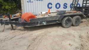 16 ft float trailer dual axle use for transport of heavy machine