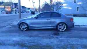 135i M package, manual, red interior, shadowline trim