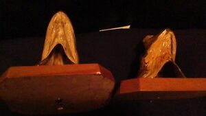 BASS AND PIKE FISH HEADS MOUNTED ON WOOD PLAK ODDITY Stratford Kitchener Area image 4
