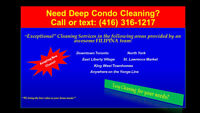 FILIPINA - Downtown Condo Cleaning!  Call/Text:(416) 316-1217
