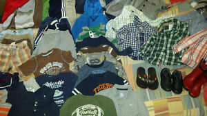 large bag filled with boy clothing size 2T and 3T