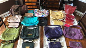 Coach purses, wallets and leather jacket, jimmy Choo tote