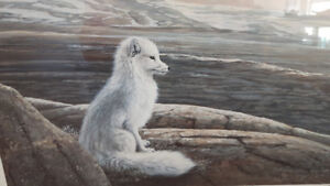 """""""ARCTIC FOX"""" Signed and Numbered Print by Lissa Calvert."""