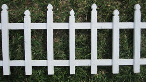 Garden border picket fencing
