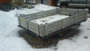7x10 utility trailer, removable sides, new lights