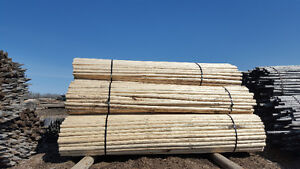 Rails 16' Wood Peeled