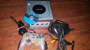 Console game cube silver