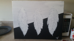 Original Feather Paintings