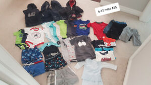 Baby Boys 6-12 mths Clothing Haul