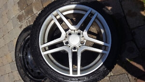 225/45R17 WINTER TIRES WITH MERCEDES C300 MAGS GOOD FOR 1 SEASON