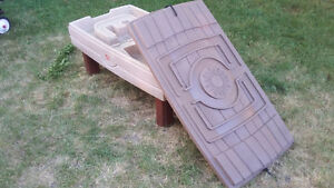 Gently used plastic sand table