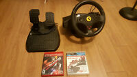 wheel playstation 3 and PC + 2 games