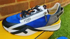 Fendi Multicolour suede low-tops
