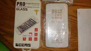Moto x play tempered glass protector and clear case