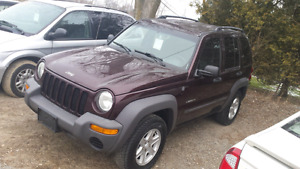 04 jeep liberty 4x4 safety and e-test inc. London Ontario image 1