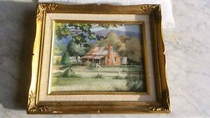 Watercolour painting of an old house at Whitfield Jerrabomberra Queanbeyan Area Preview