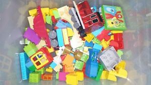 Lot of Lego Duplo Assorted Pieces and Mega Bloks