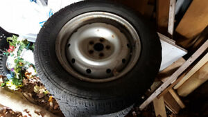 Four Winter Tires on Steel Rims 225/60/16