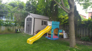 Slide with Sand box, Outdoor Play. FREE
