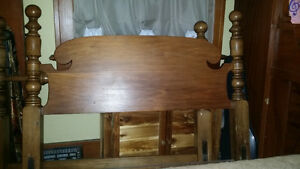 Lovely Malcolm Colonial Antique Headboards and footboards