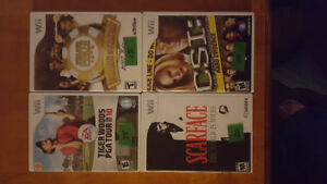 lot de jeux de wii-tiger wood,scarface,poker,csi