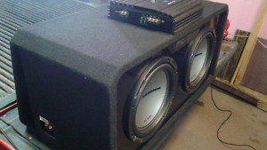 MTX JACKHAMMERS AND PORTED BOX.ALPINE AMP.