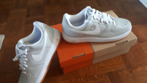 A brand new  Nike style Air force 1 neutral grey&white