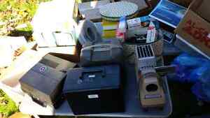 Vintage slide projector lot of 4 with extra bulbs & slide cases